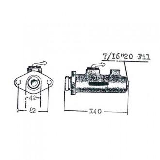 Pompa freno | 845 PER CARRELLI ELEVATORI - produzione pompa - Diametro: 25.4 mm Marche: Yale